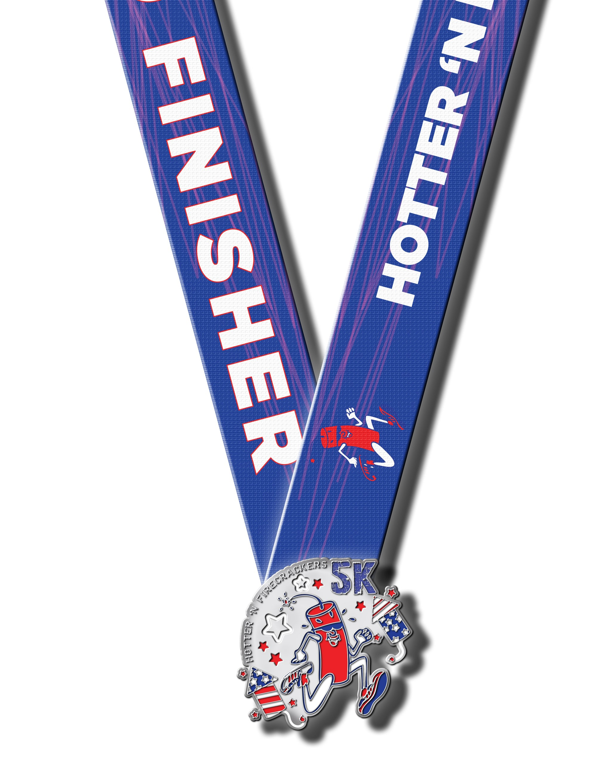 Hotter 'n Firecrackers Finisher Medal
