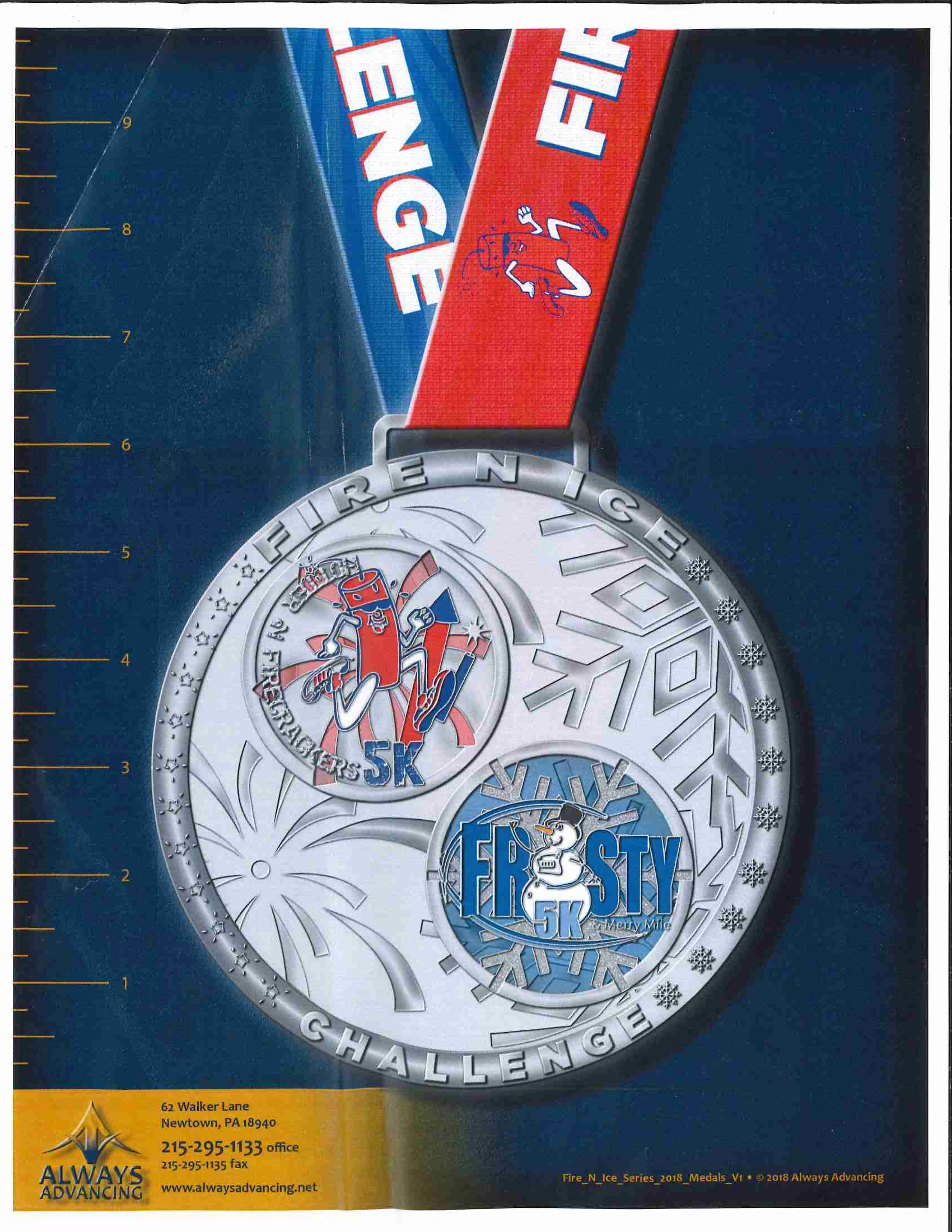 Fire and Ice Challenge Medal